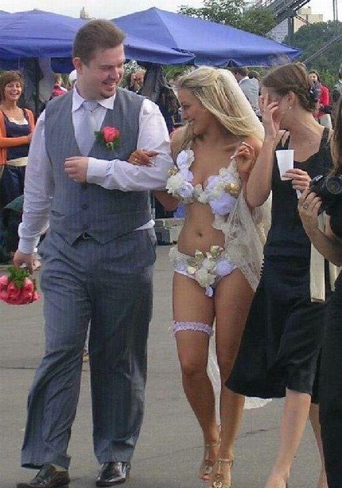 hot bride in bikini